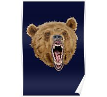 Grizzly Bear (Blue) Poster