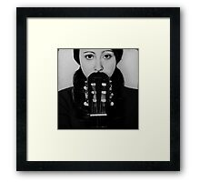 you and guitar Framed Print