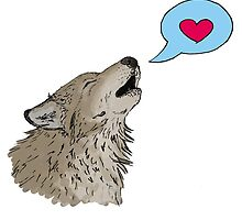 Loved Up Wolf by sillybadger