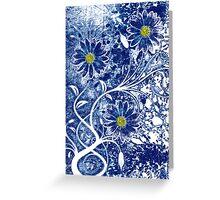 Blue China Greeting Card