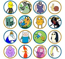 Adventure Time Character Circles Photographic Print