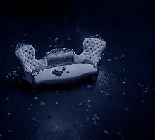 Blue Velvet Sofa by Julian Wilde