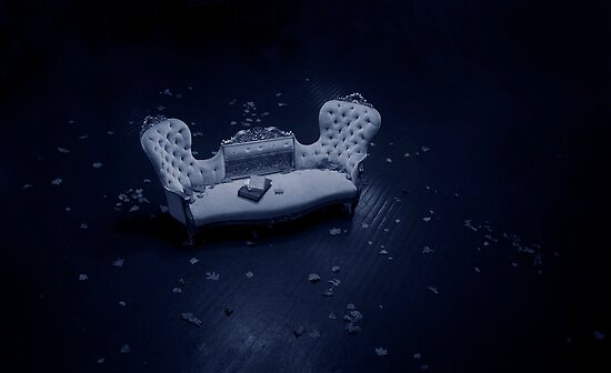 Blue Velvet Sofa by Julian Wilde
