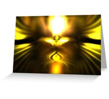Gold Ember Greeting Card