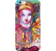 Pierrot with Cat  / Venetian Masquerade Masks iPhone Case/Skin