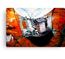 fitzroy graffiti Canvas Print