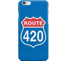 Route 420 Red Blue White US highway sign iPhone Case/Skin