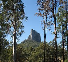 One of the Glass House Mountains, Qld. Australia by Marilyn Baldey