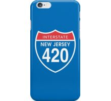 New Jersey 420 Day US Interstate Highway Sign iPhone Case/Skin
