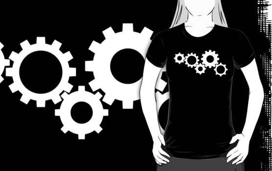 Gears - White by kieutiepie