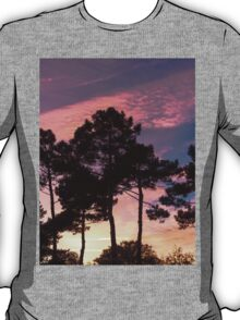 Sunset - Clouds, wind and trees T-Shirt