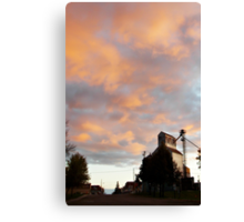 Silo At Sunset Canvas Print