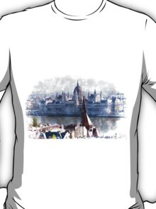 Houses of Parliament in Budapest Hungary T-Shirt