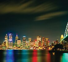 Sydney Nightlights by Dean Prowd Panoramic Photography
