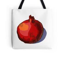 watercolor hand drawn vintage illustration of pomergranate Tote Bag
