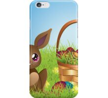 Easter Bunny with Eggs in the Basket iPhone Case/Skin