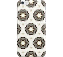 white star graphic pattern from hand painted design iPhone Case/Skin