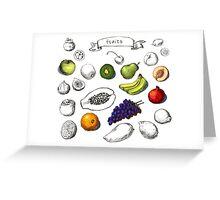 Set of Doodle Fruits - for scrapbook or design - hand drawn Greeting Card