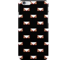 Black Graphic print white tribal triangle iPhone Case/Skin