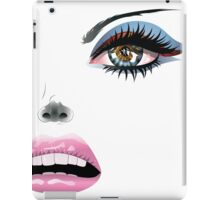 Face with Blue Eyes iPad Case/Skin