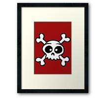 skull funny pirat cartoon Framed Print