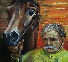 The man and the horse by pimash