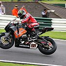 Leon Haslam on his HM Plant Honda Fireblade during the 2008 British superbike championship by 1throughmyeyes