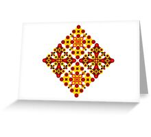 Vivid geometrical ornament  Greeting Card