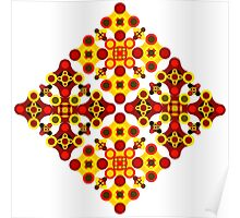 Vivid geometrical ornament  Poster