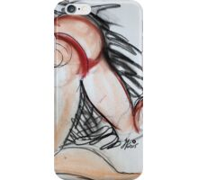Abstract Charcoal Nude 5 iPhone Case/Skin