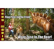 SexyMario MEME - Flag Pole In The Front, Warp Zone In The Rear! 1 Photographic Print