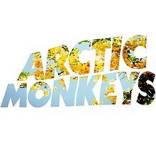 arctic monkeys flower logo (yellow) by crowleying