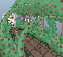 Alice Looking in the Garden by Emily Gonsalves