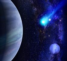 Photorealistic Galaxy background with planet  by NBeauty