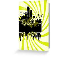 Grunge summers background Greeting Card