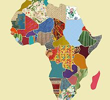 Patchwork Map of Africa by luckylucy