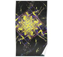 Abstract diamonds Poster