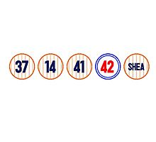 Mets Retired Numbers by foxygrampa