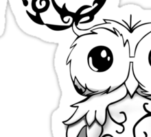 Intricate Owl at Musical Midnight Sticker