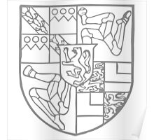A Complete Guide to Heraldry - Figure 755 — Arms of Thomas Stanley, Earl of Derby (d 1572) Poster
