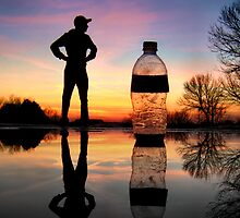 Man vs. Water Bottle by Evan Ludes