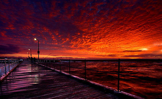 Pier at Half Moon Bay by John Dekker