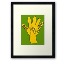 Palmistry Hang Loose Shaka Sign Framed Print