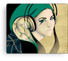 Teal Sounds Canvas Print
