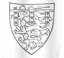 A Complete Guide to Heraldry - Figure 704 — Henry, Duke of Lancaster, son of preceding (From his seal, 1358) Poster