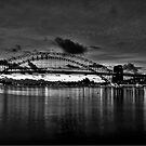 Dark City - Sydney Harbour Dawn - Moods Of A City - The HDR Experience by Philip Johnson