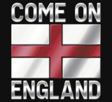 Come On England - English Flag & Text - Metallic by graphix