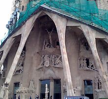 Close up of Sagrada Familia - Barcelona by hilarydougill