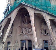 Close up of Sagrada Familia - Barcelona by hilarydougill