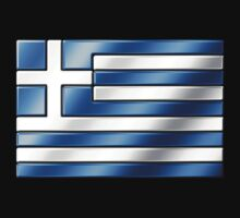 Greek Flag - Greece - Metallic by graphix